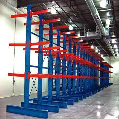 Industrial pipe rack system metal steel cantilever racking plywood storage rack
