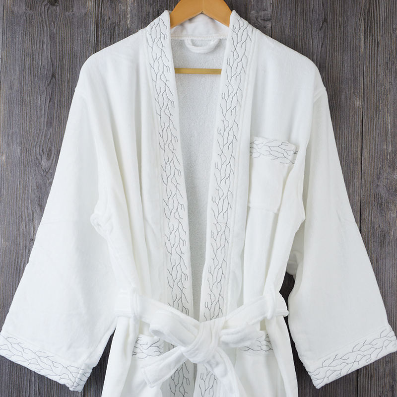 Customized high quality 100% cotton bathrobe hotel