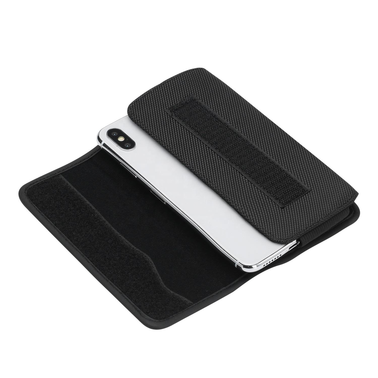 2020 hot selling Cellphone Accessories Classic horizontal cell phone holster case universal nylon mobile phone pouch