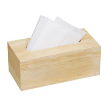 Home decor handmade cheap plywood tissue paper storage box