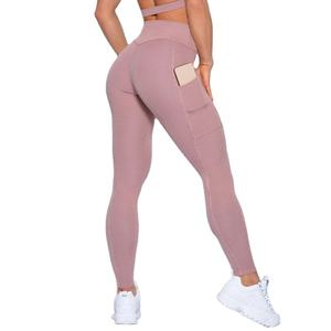 Amazon 2020 Best Seller Custom 86% nylon 14%spandex leggings Women Butt Lift Gym Tight Yoga Pants with pockets