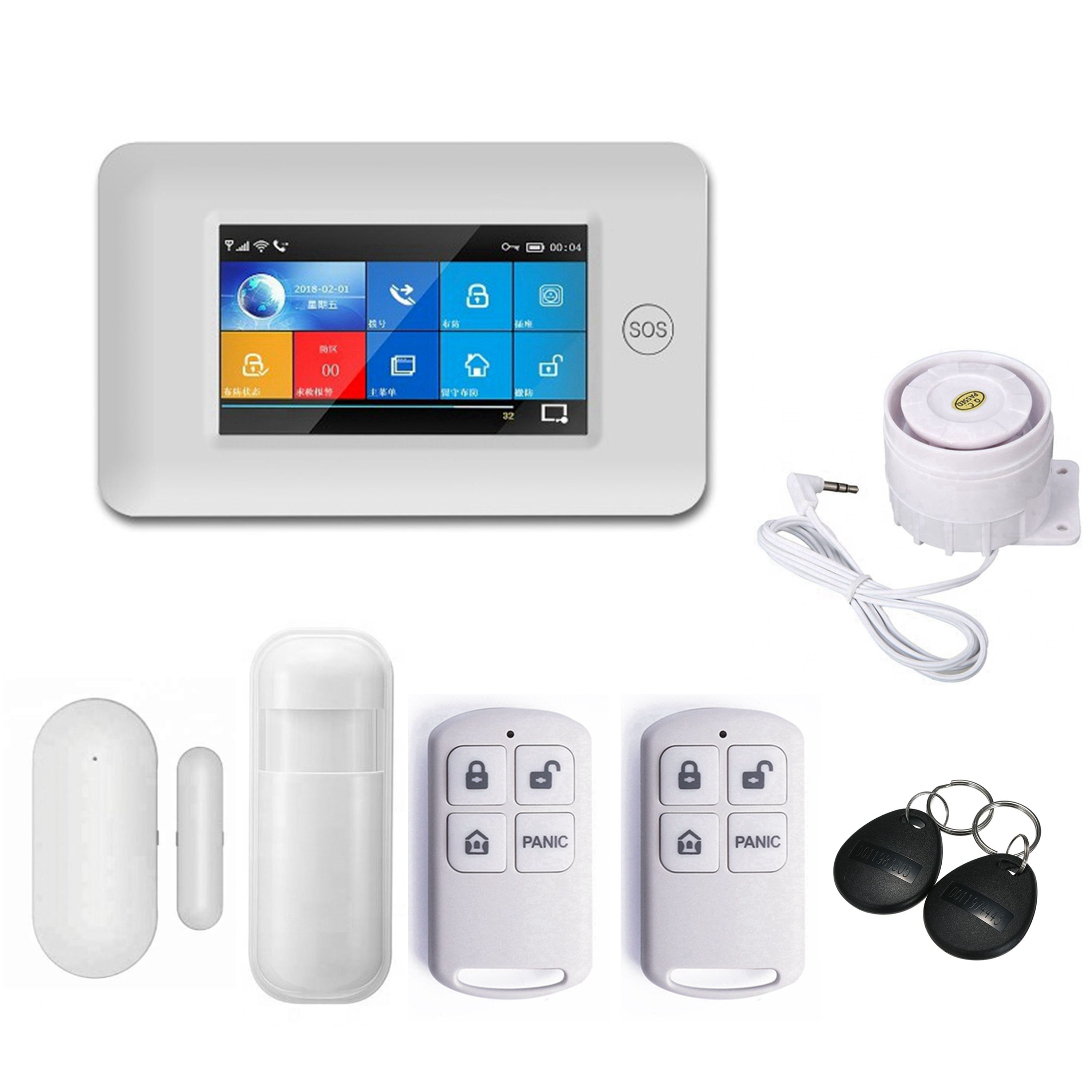 Tuya alarm security home security system smart burglar alarm system wireless house alarm system home security
