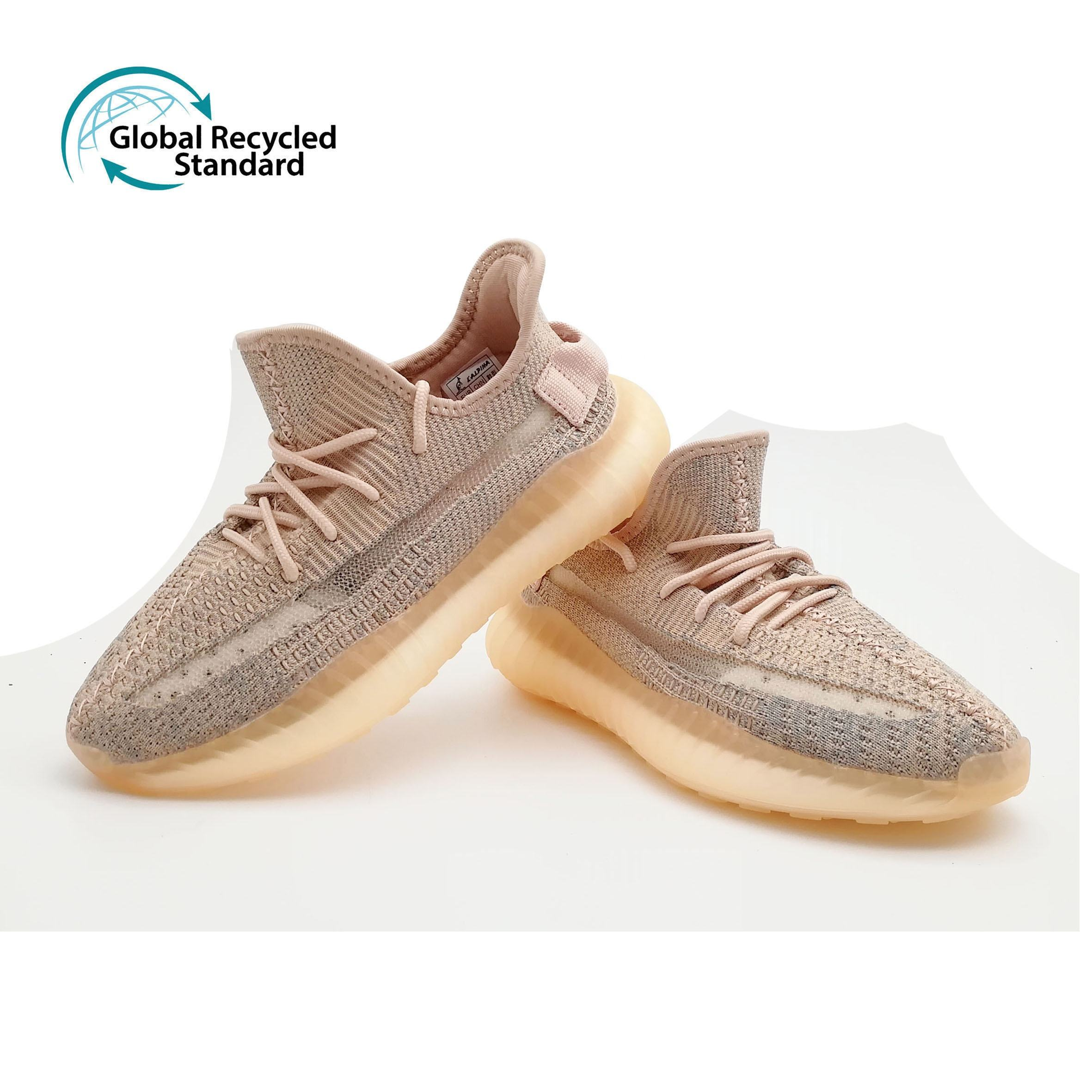 New 350 V2 cost-effective version simulation popcorn combination bottom breathable elastic knit Yeezy running shoes