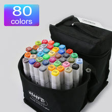 Anime 80 colors art markers Classic gift art marker set copic colored pens art markers
