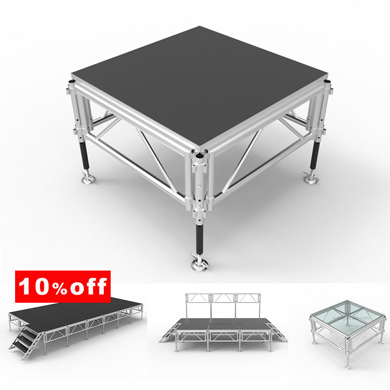 Customized size is available Size and Aluminum Frame and Wooden Platform Material Concert Stage