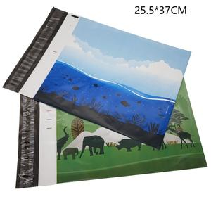 Shipping Mail Bags Biodegradable Order Products Decorative Plastic Custom Mailing Envelopes Bag With Handle
