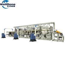 China supplier Automatic production line diaper making machine price baby