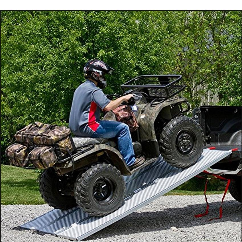 Light Weight 2 Folded Aluminum ATV Loading Ramps Motorcycle Truck Ramp