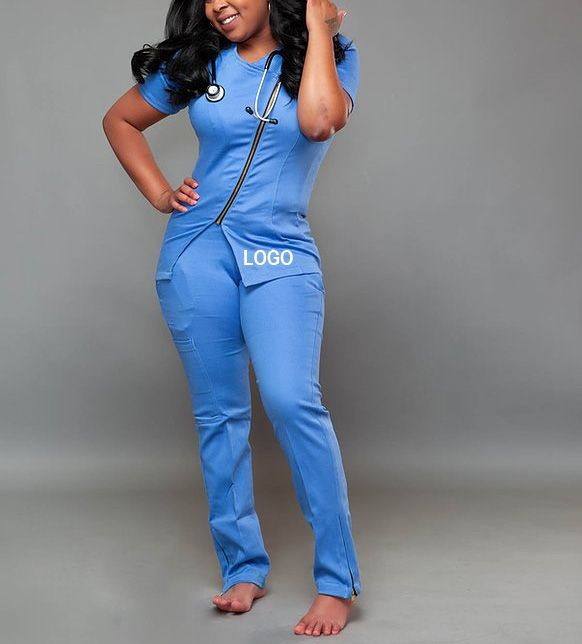 Top Quality Nurses Hospital Uniforms Nursing Best-selling breathable scrubs suit uniforms jogger women scrub sets uniform