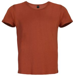 Solid color casual plus size 100% organic cotton plain men's t-shirts
