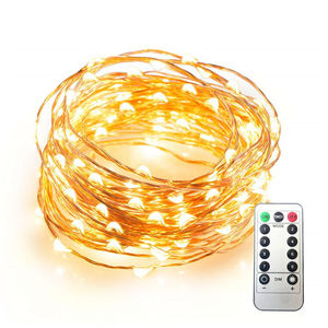 Waterpoof Remote Control Fairy Lights Battery Operated 8 Mode Timer String Copper Wire LED String Lights