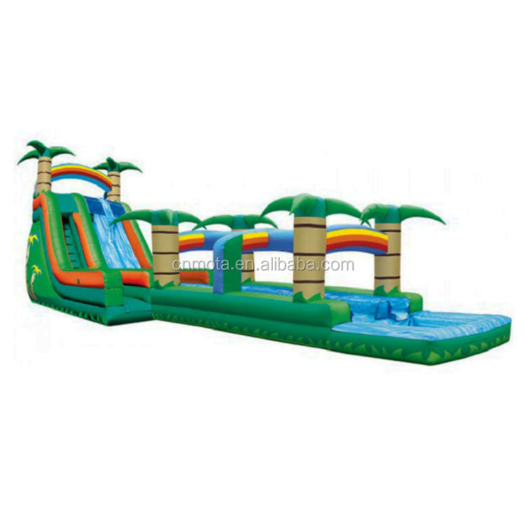 Attractive Inflatable Palm Tree Water Slide With Pool For sale