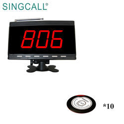 SINGCALL restaurant wireless remote waiter call system guest coaster service call