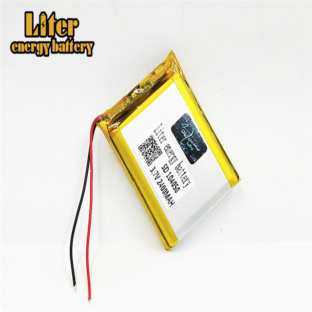 104050 Long cycle life 2400mah battery 3.7v li-polymer 8.8wh lipo battery