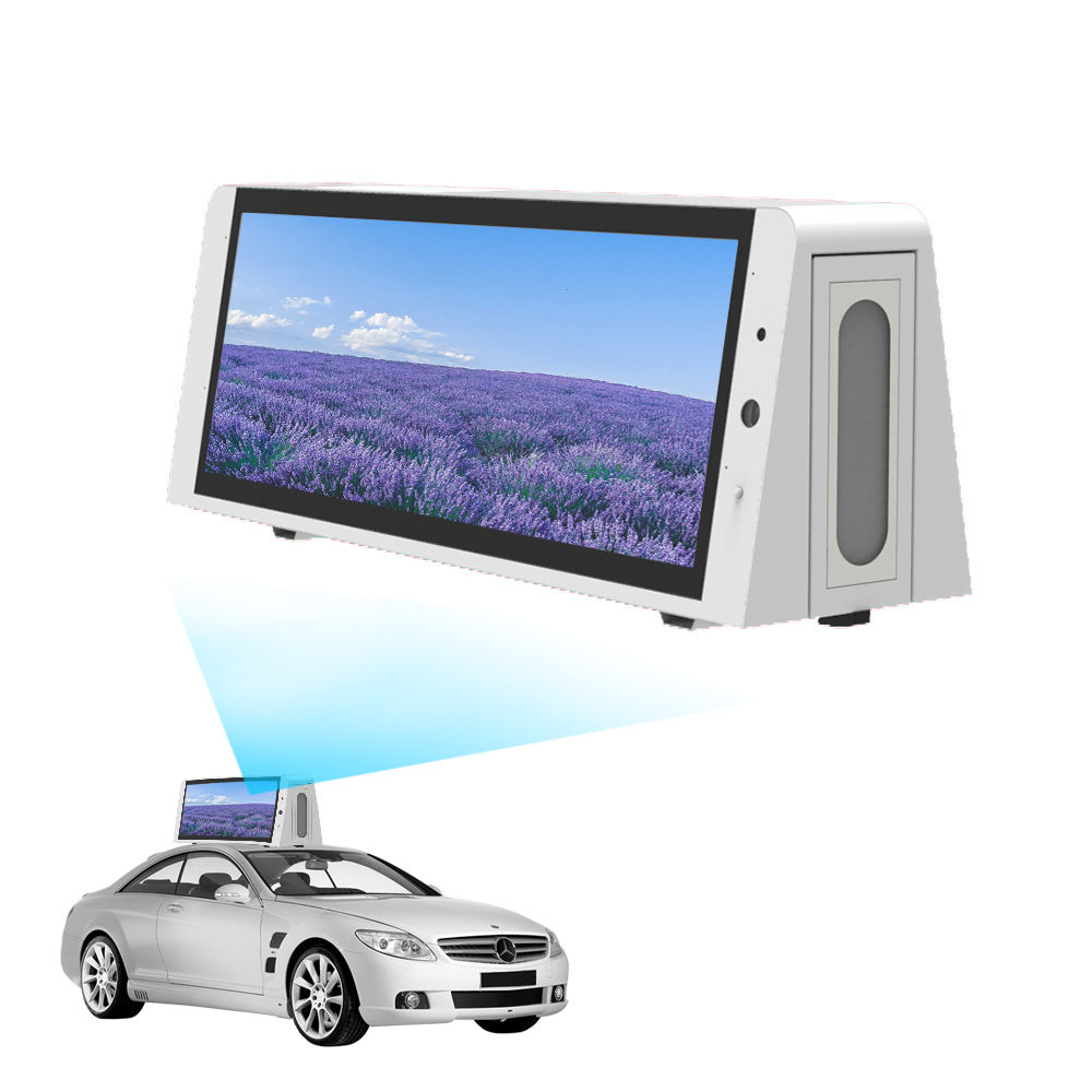 top digital and displays screen touch android headrest ad signage car screen lcd display taxi advertising player