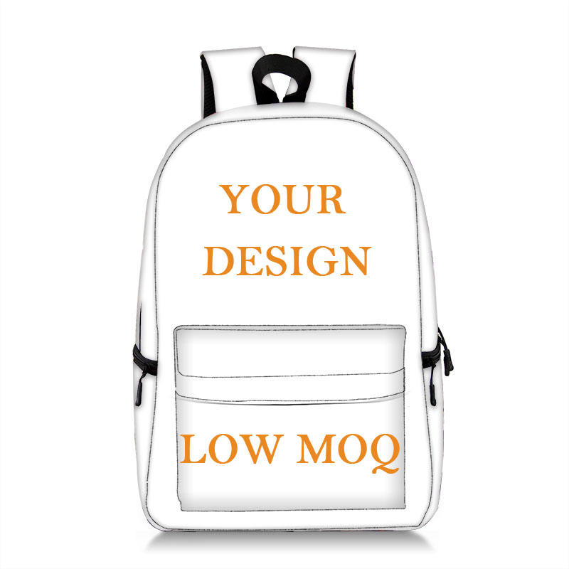 Low MOQ Full All Over Print Custom Design Made Kids Children Ita School Bag Blank Sublimation Custom Printed Backpack with logo