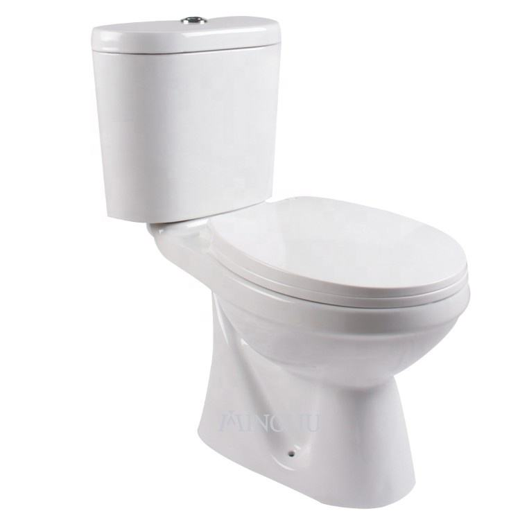 low price western ceramic sanitary ware two piece wash down wc toilet