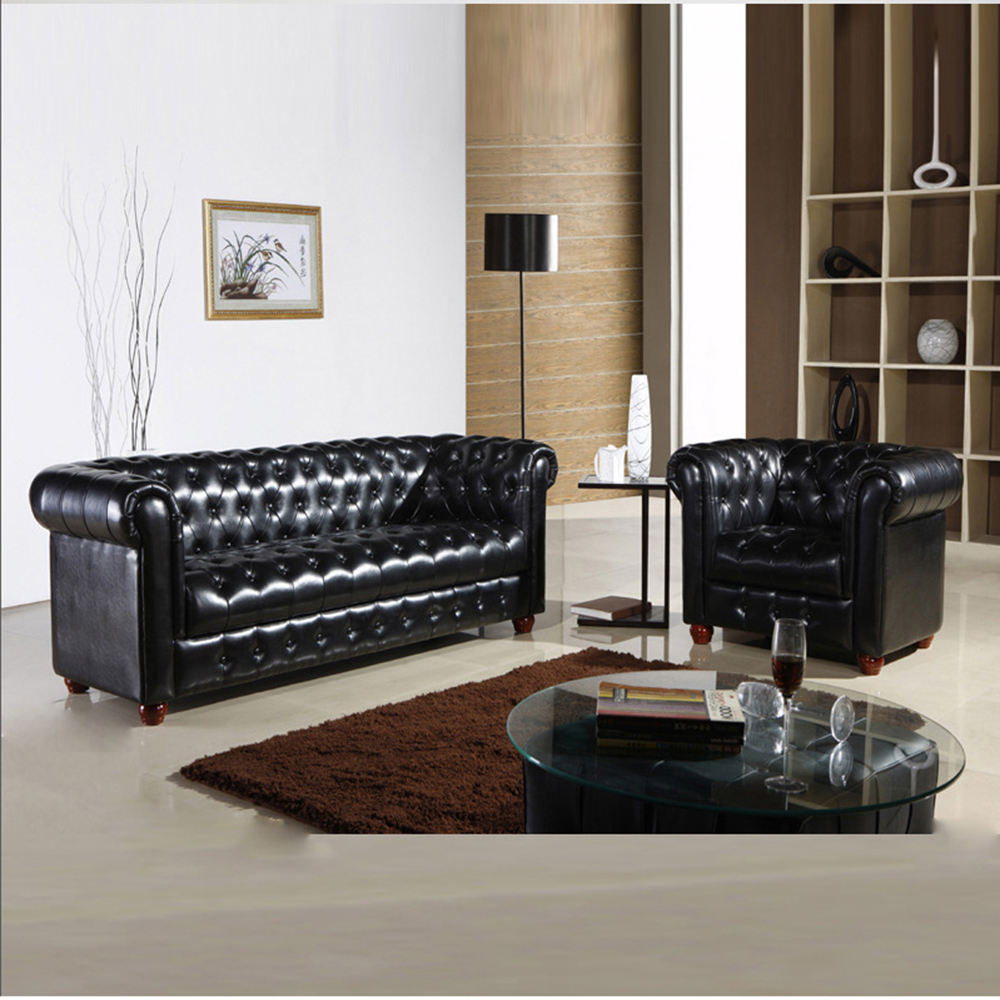 leather sofas sectionals & loveseats Vintage European Chesterfield American modern style furniture office sofa set