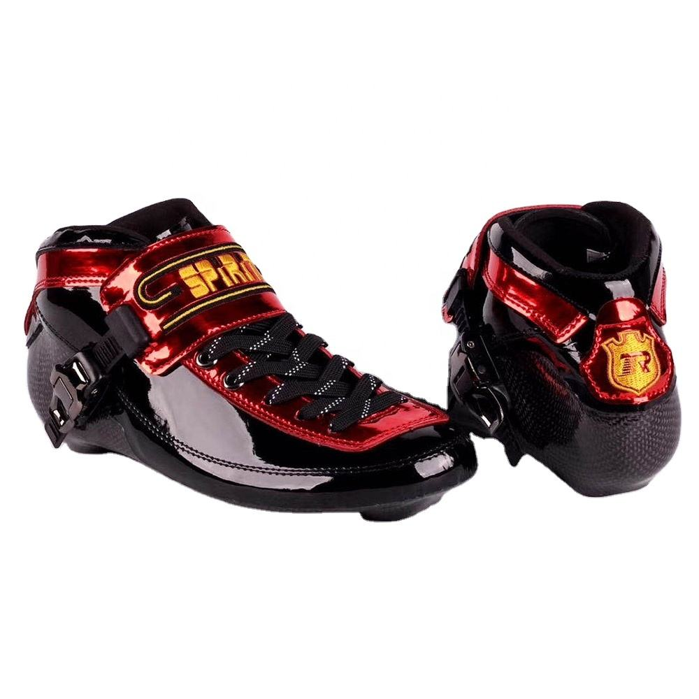 Professional SPIRIT 2021 Speed Inline Skate Boots Quality Carbon Fiber Competition Speeding Skate Racing Skating Boot