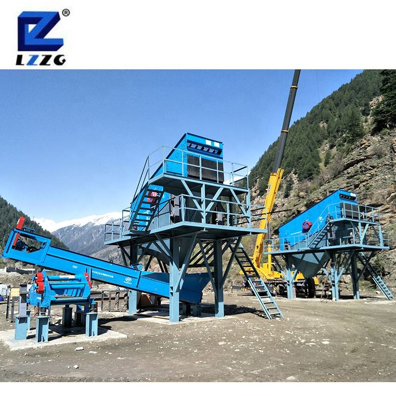 Industrial linear vibrating screen stone crushing system sand stone screening plant