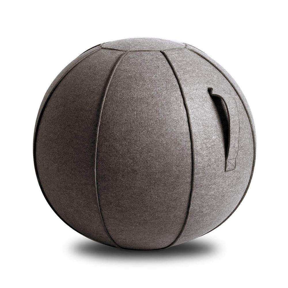 Exercise Stability Yoga Ball with Cover for Home and Office Desk, Yoga Ball Seat/Yoga ball chair/Yoga massage ball