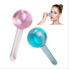 Amazon hot sale Biopolymer gel ice Custom Face Massage ice globes for Reduce slim lines and tighten face skin