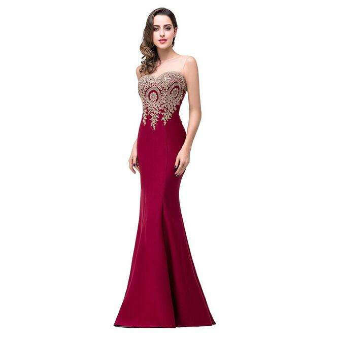 Strapless Sleeveless Sweetheart Cheap Red Modern Burgundy Maids Mermaid Bridesmaid Dresses Patterns