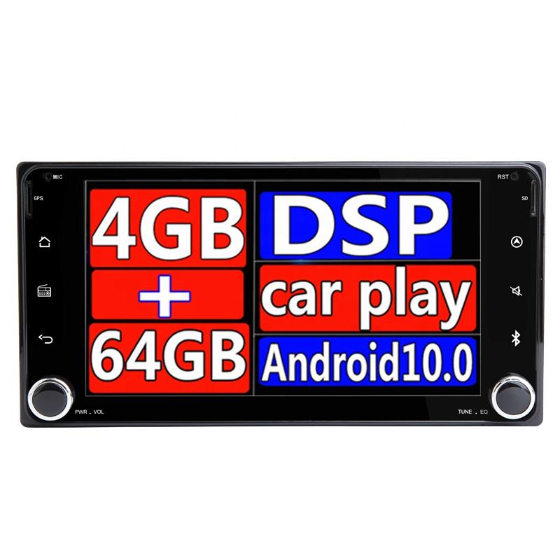 Android 10 No DVD Player For Toyota Universal RAV4 COROLLA VIOSGPS HILUX Terios radio Land Cruiser 100 PRADO 4RUNNER Bluetooth