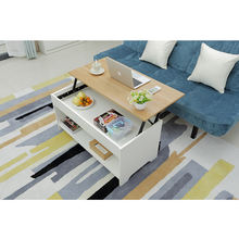 Multifunctional wood lift top coffee table for save  space