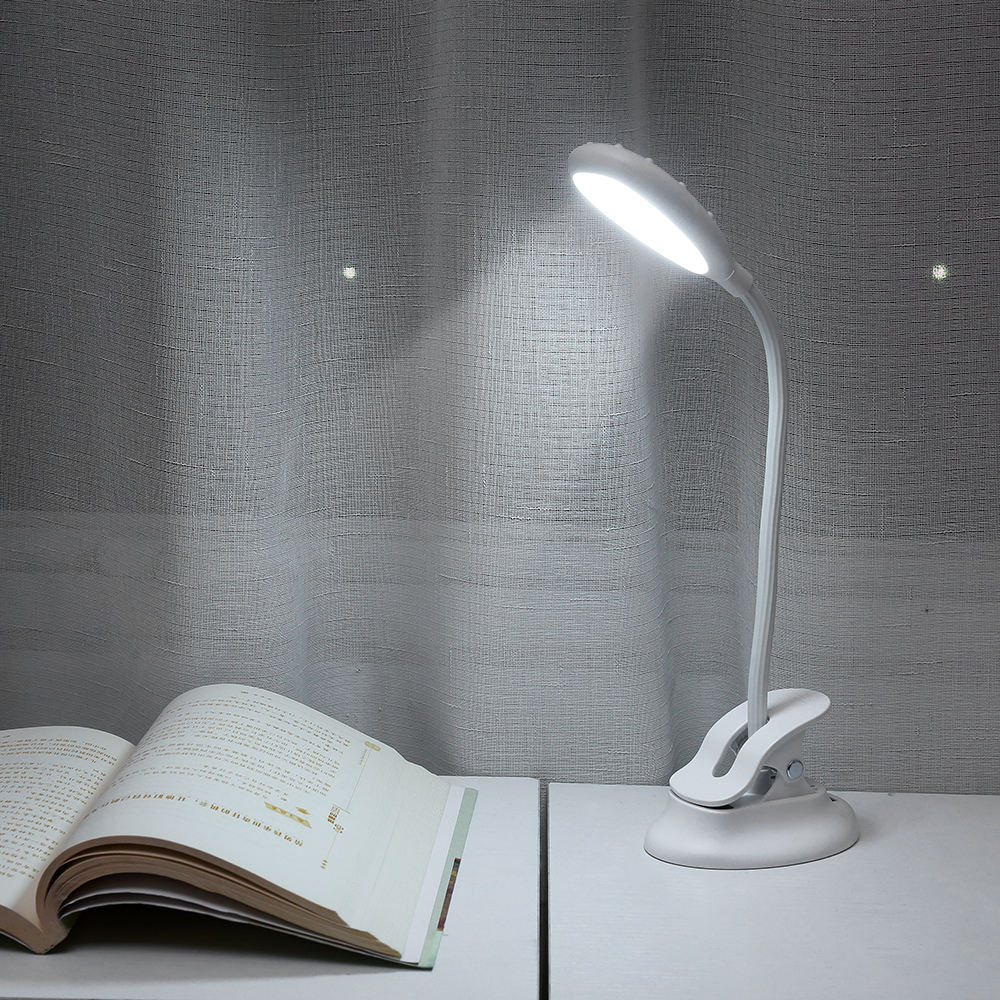 New USB Rechargeable LED Touch 3 Modes Clip Desk Lamp Eye Protection Table Lamp for Study