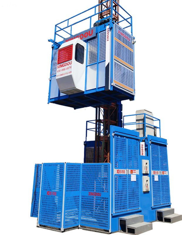 customized cage hoist china supplier OEM building construction elevator rack and pinion lift price