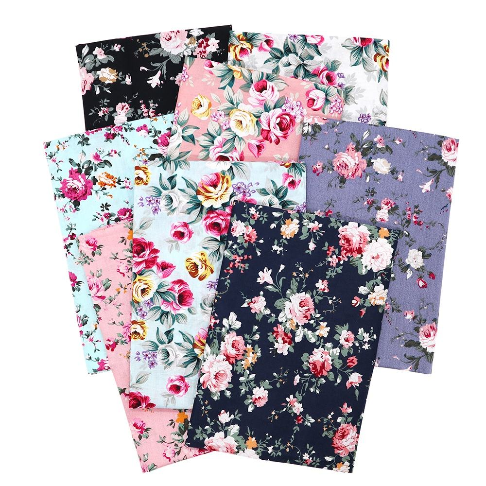 By The Meter Rose Flower Floral Printed Quilting Dệt Poplin 100% <span class=keywords><strong>Cotton</strong></span> <span class=keywords><strong>In</strong></span> <span class=keywords><strong>Vải</strong></span> Cho Mặt Nạ Ăn Mặc Túi