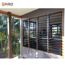 Electrical exterior aluminum louver shutter/adjustable window shades aluminum sliding louver sun louver window for home design