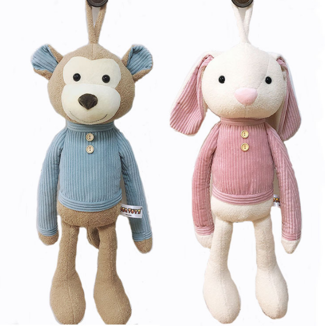 Wholesale New cute rabbit doll comfort toy long legs elephant plush toys