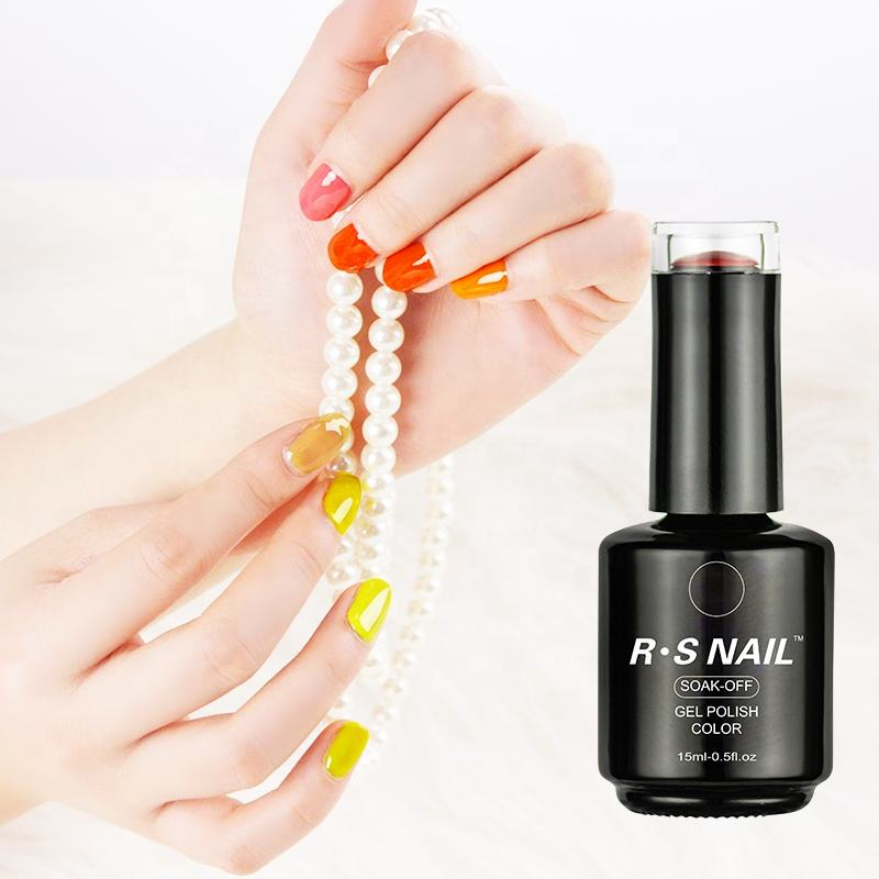 Nail Uv Gel Free Sample RS Nail OEM Provided Uv Shinny Bright Neon Color Nail Gel Polish No BATO TPO And TPO-L