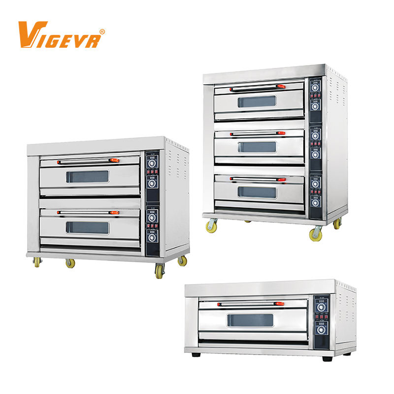 Vigevr Manufacturer Commercial Electric Gas Deck Pizza Bread Baking Machine Bakery Oven Prices