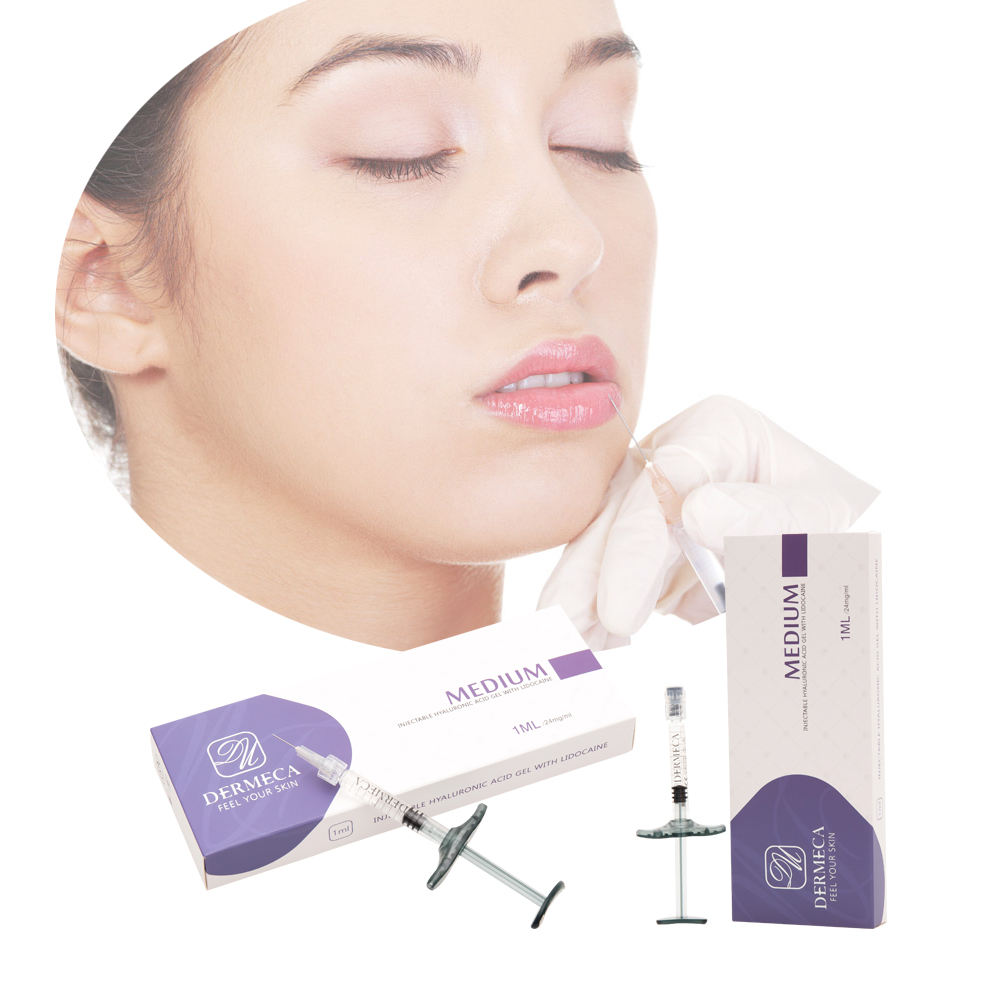 Injectable dermal filler Hyaluronic Facial Lifting Dermeca Mosotherapy 2ml