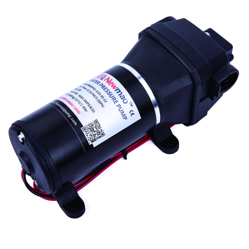 Newmao 12v FL-40 17 L/min 40psi RV Marine industrial high flow rate water pump