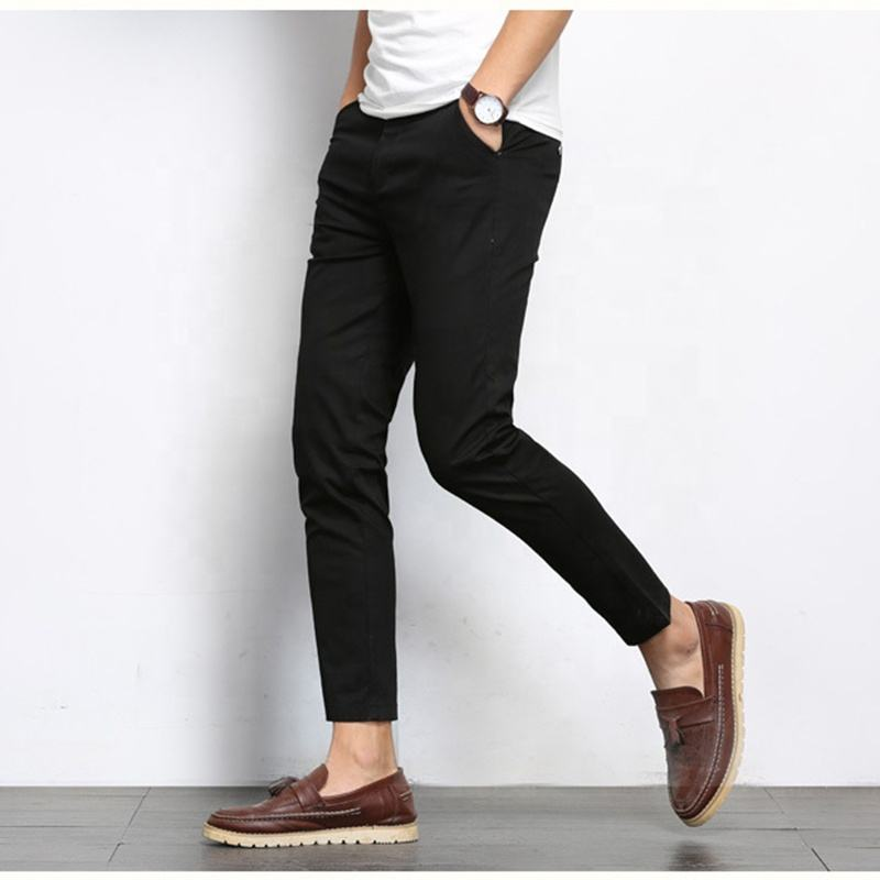 New men fashionable work pants breathable casual slim men pants trousers