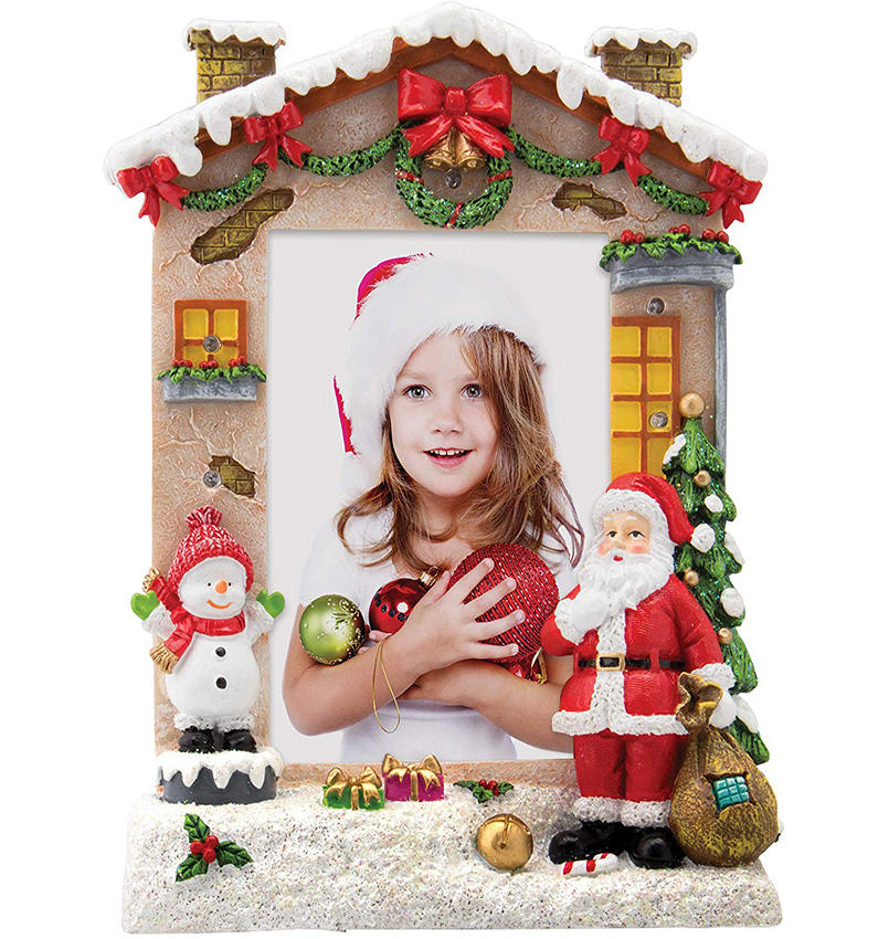 Christmas Family Photo Frame Santa Resin Picture Home Decoration Frame