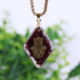 Natural garnet Orgonite pendant Hand Of Fatifa energy necklace healing jewelry for women orgone pendant jewelry wholesale