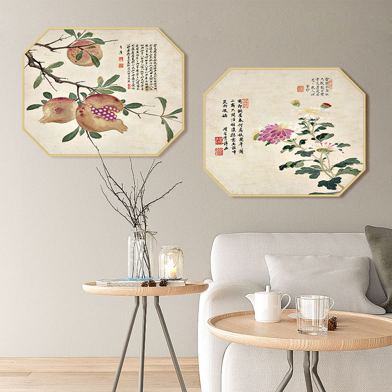 Newest Chinese style classical oil painting art on canvas DIY digital painting modern fabric paintings designs