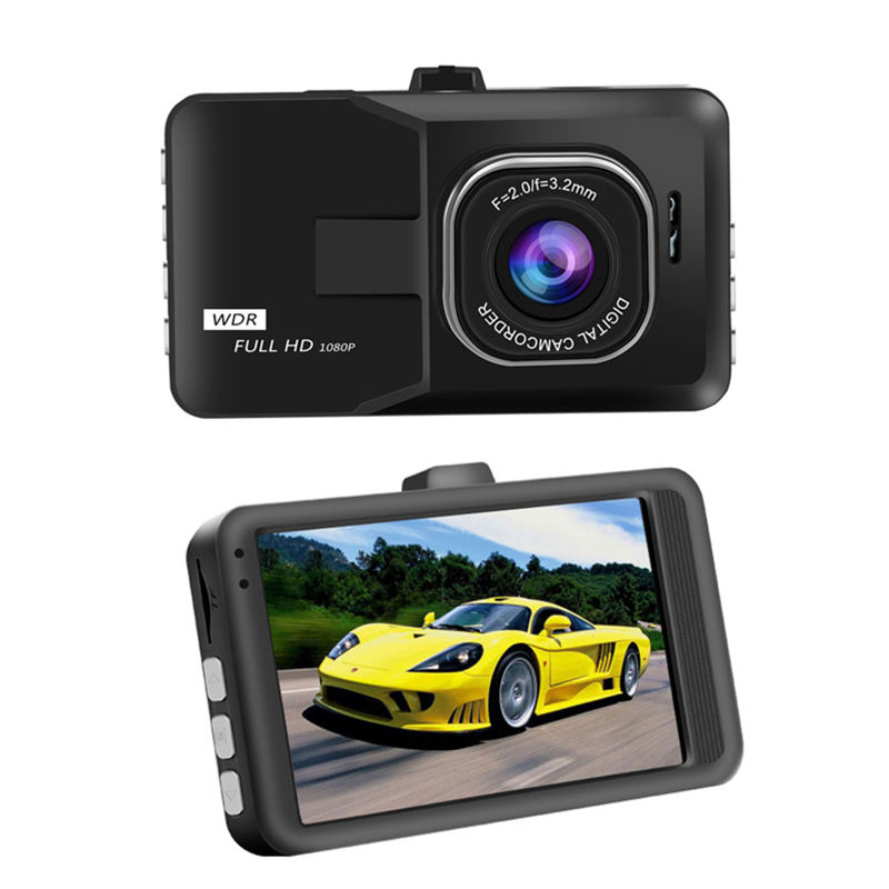 Best Car video recorder 1080p hd T206 dual camera car dvr 3.0 inch LCD dash cam car black box