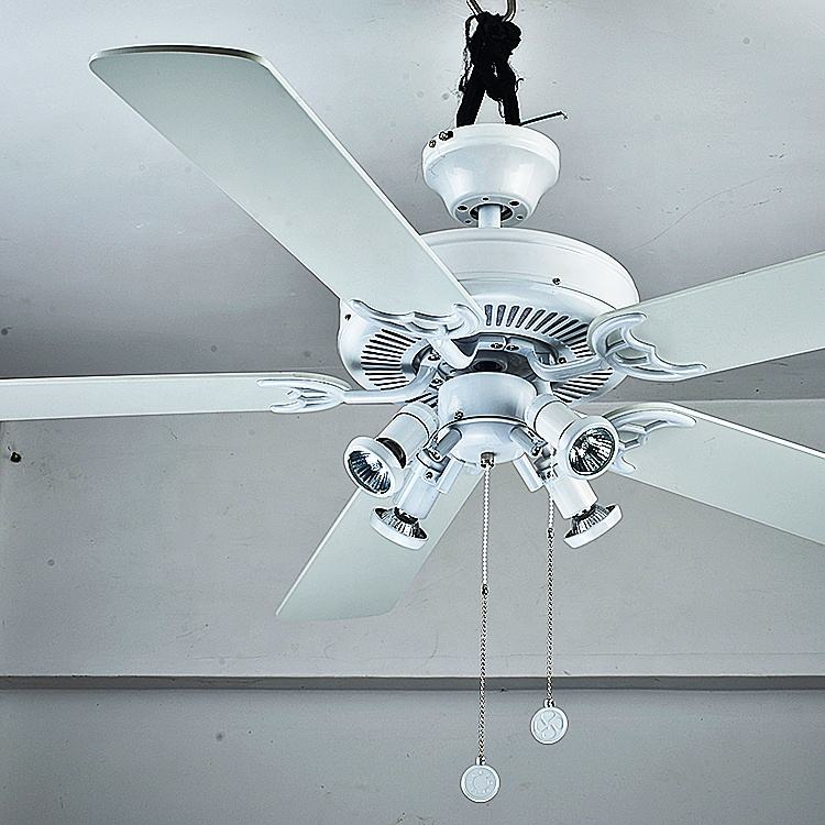High Quality pull chain control ceiling fan with light modern led lights