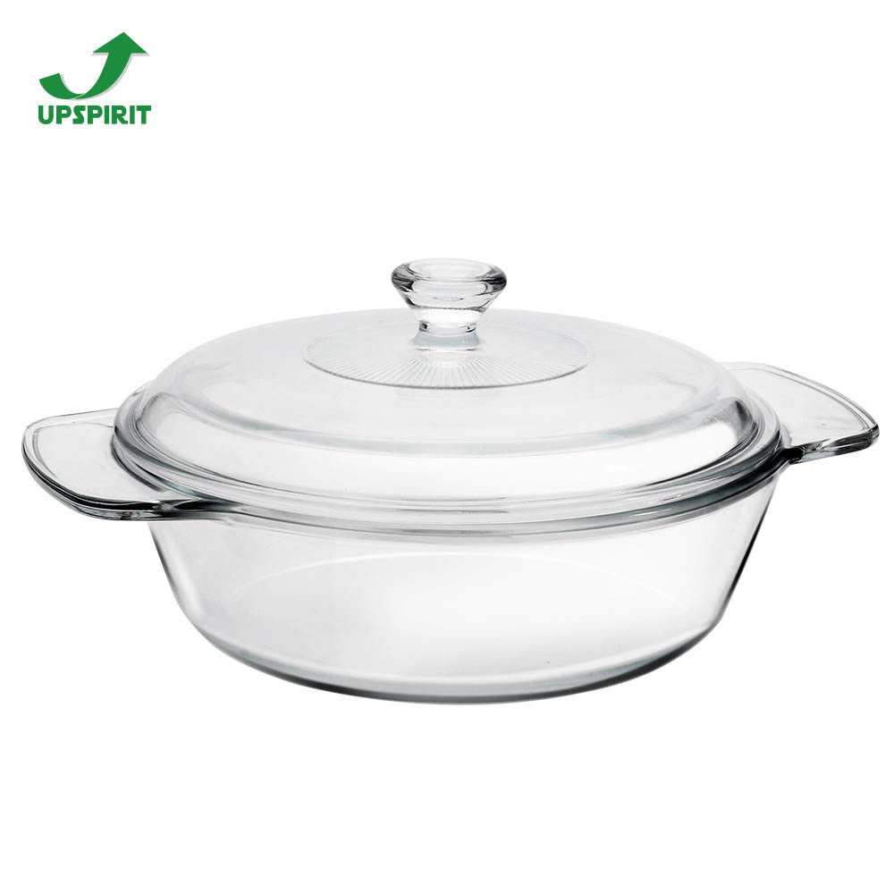 Heat Proof Oven Safe Pyrex Glass Baking Dish With Lid