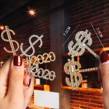 Women Gifts Smile Love Words Bling Bobby Pins Rhinestone Crystal Letter Hair Clip