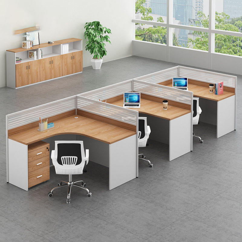 Single seat office screen desk with folding bed