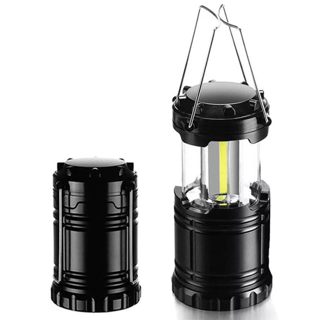 Handle Portable LED Camping Light with Hook COB Outdoor Mini led camping lantern