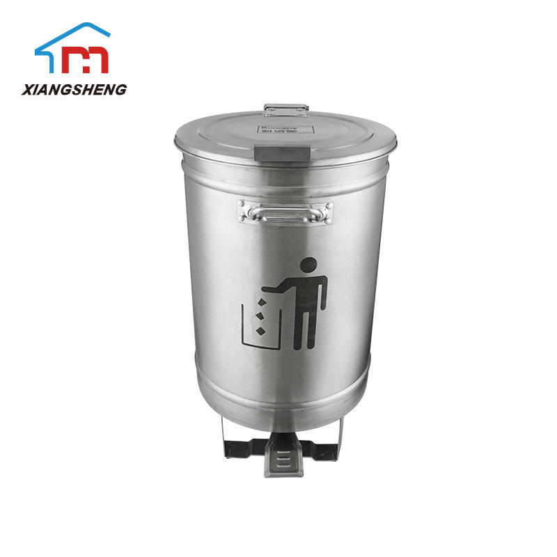 Quality hotel bathroom restaurant kitchen office recyling metal foot operated pop up stainless steel garbage waste bin trash can