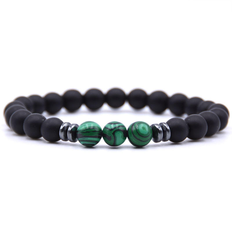 Men Women Couple 8mm Tiger Eye Beads Bracelet Matte Agate Mala Prayer Charm Bracelet For Sale